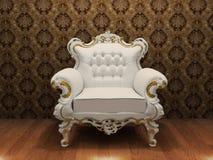 Luxueuze leunstoel met decoratieframe Stock Illustratie