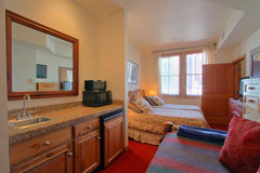 Luxueuze moderne slaapkamer Stock Foto