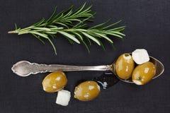 Luxueuze olijfachtergrond. Royalty-vrije Stock Foto