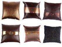 Luxueuze Ontwerper Pillows Stock Fotografie
