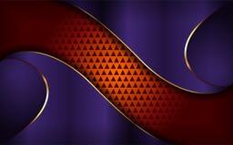 Luxueuze purpere en oranje achtergrond vector illustratie