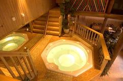 Luxueuze sauna 1 royalty-vrije stock afbeeldingen