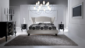 Luxueuze Slaapkamer Royalty-vrije Stock Fotografie
