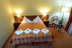 Luxueuze slaapkamer Royalty-vrije Stock Afbeeldingen