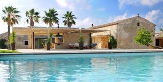 Luxueuze Villa Stock Fotografie