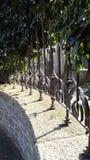 Luxueuze villa van de poort de hoofdingang Stock Afbeelding