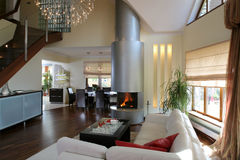Luxueuze woonkamer Stock Afbeeldingen