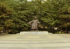 Luxun. Lu Xun's statue In the Lu Xun Academy of Fine Arts campus Stock Image