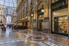 luxuous αγορές του Μιλάνου λε& Στοκ Εικόνες
