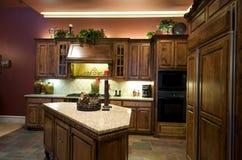 Luxuriös verzierte Küche Stockbild