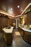 Luxuriös verzierte Küche Stockbilder