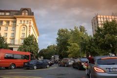 Luxuriöse Autos am Abschlussball, Plowdiw Bulgarien Stockbild
