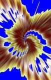 Luxuriöse Braunspirale auf blauem Hintergrund Stockfoto