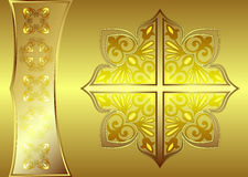 Luxuriöse goldene Fahne Stockfotos