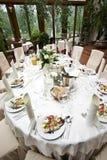 Luxuriöse Hochzeitstabelle Lizenzfreie Stockfotografie