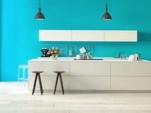 Luxuriöse Küche mit Edelstahlgeräten Lizenzfreies Stockfoto