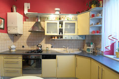 Luxuriöse Küchedetails Stockfoto