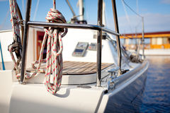 Luxuriöse moderne Yacht Lizenzfreie Stockbilder