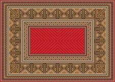 Luxuriöse orientalische Wolldecke mit ursprünglichem Muster Lizenzfreies Stockfoto