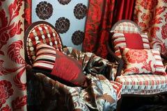 Luxuriöse rote Stühle Stockfoto