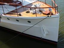 Luxuriöse Yacht stockbild