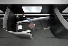 Luxuriöser Business-Class-Innenraum Stockfoto