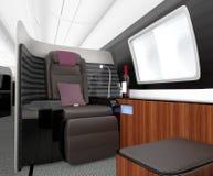 Luxuriöser Business-Class-Innenraum Stockfotos