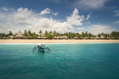 Luxuriöser Erholungsort in Lombok, Indonesien stockfoto