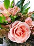 Luxuriöser Hochzeits-Blumenstrauß, rosafarbene Rosen Stockfoto