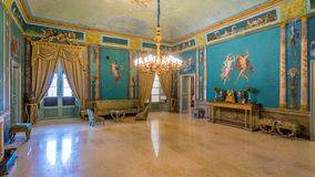 Luxuriöser Raum im Norman Palace Palazzo-dei Normanni in Palermo Sizilien, Italien lizenzfreie stockbilder