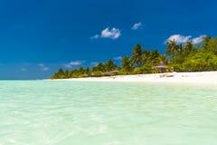 Luxuriöser tropischer Strand in Malediven Lizenzfreies Stockfoto