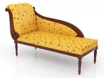 Luxuriöses gelbes Sofa Lizenzfreies Stockbild