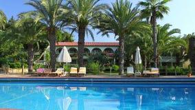 Luxuriöses Hotel in der Türkei mit Pool stock footage