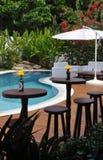 Luxuriöses Hotelpool und -stab Stockfoto