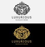 Luxuriöses Kamm-Logo Stockfoto