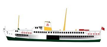 Luxuriöses Kreuzschiff   Lizenzfreies Stockfoto