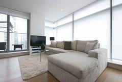 Luxuriöses modernes Wohnzimmer stockbilder