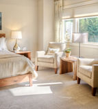 Luxuriöses Schlafzimmer Lizenzfreies Stockbild