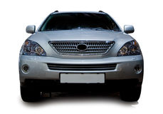 Luxuriöses silbernes Auto Stockfotografie