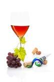 Luxuriöses Stillleben des rosafarbenen Weins. Stockfoto