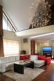 Luxuriöses Wohnzimmer lizenzfreies stockfoto