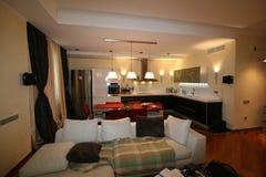 Luxuriöses Wohnzimmer, schöner Eingang lizenzfreie stockfotografie