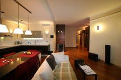Luxuriöses Wohnzimmer, schöner Eingang lizenzfreie stockfotos