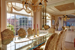 Luxuriant bright dining room Stock Image