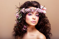 Luxuriant. Femininity. Fashion Model with Classic stock photography