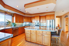 Luxuriant kitchen design Royalty Free Stock Photo