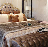 Luxuriant and warm bedding Royalty Free Stock Photos