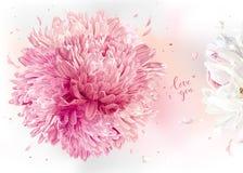 Luxurios blom- bakgrund Royaltyfri Bild