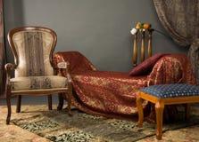 Luxurios Innenraum des Boudoirs lizenzfreie stockbilder