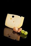 Luxurios swiss cheese background. Royalty Free Stock Images